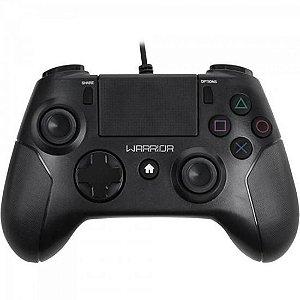 Controle WARRIOR Gamer p/ PS3/ PS4/ PC JS083 Preto MULTILASE