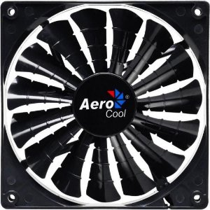 Cooler Fan 12cm SHARK BLACK EDITION LED EN55413 Preto AEROCO