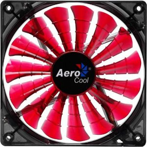 Cooler Fan 12cm SHARK DEVIL RED EDITION LED EN55437 Vermelho