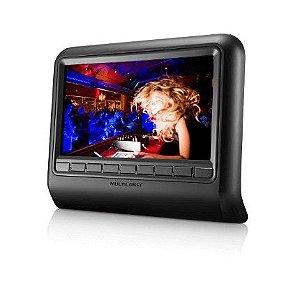 """DVD Player Automotivo """"9""""Pol. para Encosto de Cabeça Preto"""