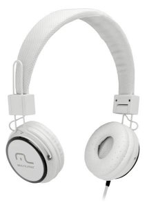 Headphone Head Fun com Microfone P2 3,5mm Hi-Fi Branco - Mul