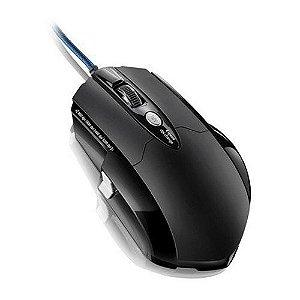 Mouse Gamer Pro Laser USB 8 Botões 3200 dpi Preto Multilase