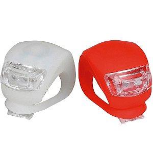 Kit Farol Silicone 2 LEDS - Dianteiro + Traseiro - ATRIO - B