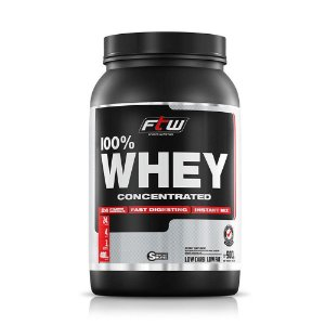 Whey Protein 100% Concentrate FTW Sabor Morango - 900g