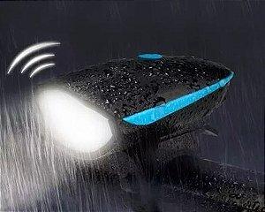 Farol Led - Lanterna Bike Ciclista - Buzina + 3 Modos de Iluminação