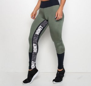 Legging Fitness Verde Trilobal Honey
