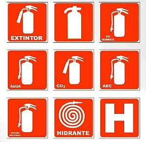 Fabricantes de Placas De Combate A Incêndio Extintores -Saída -Hidrante-alarme-Bomba