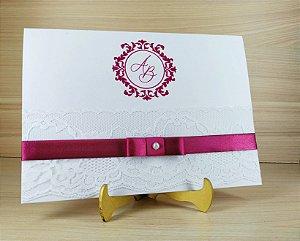 Convite de Casamento Modelo PR02 - 10 Unidades