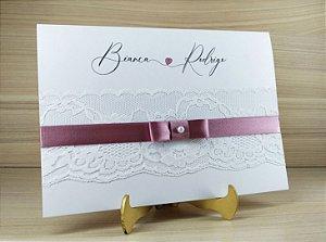 Convite de Casamento Modelo PR03 - 10 Unidades