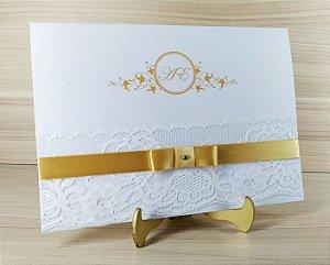 Convite de Casamento Modelo PR06 - 10 Unidades