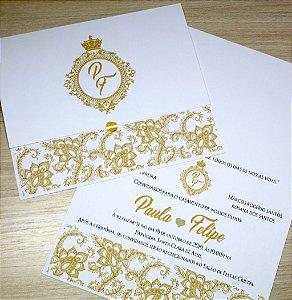 Convite de Casamento  - 10 Unidades - Modelo PE15