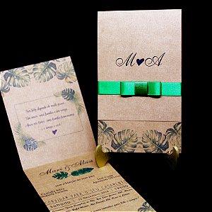 Convite de Casamento Mini - 10 Unidades