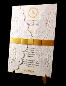 Convite de Casamento com Dollie -  Modelo CD02 ( 10 unidades )