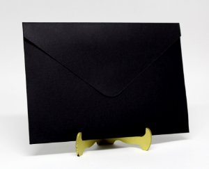 Envelope Convite Preto 10 Unidades