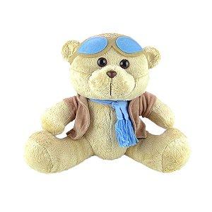 Urso De Pelúcia Aviador Médio