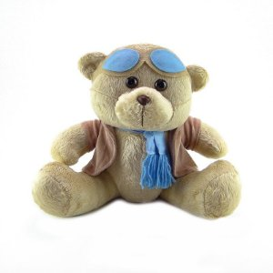 Urso De Pelúcia Aviador Pequeno