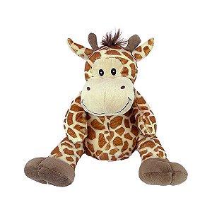 Girafa de Pelúcia 28cm Sentada