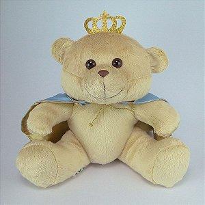 Urso De Pelúcia Príncipe Grande Azul Claro