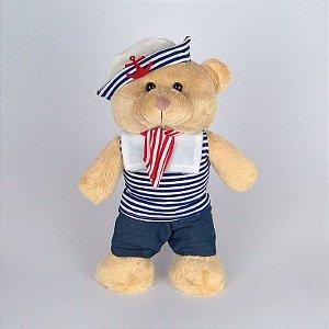 Urso De Pelúcia Marinheiro em Pé Médio