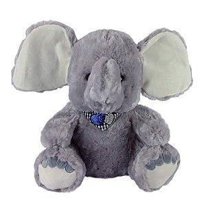 Elefante de Pelúcia Cinza