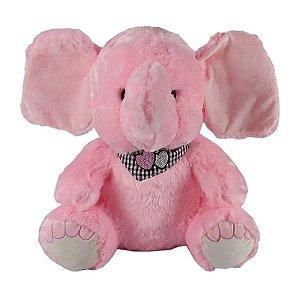 Elefante de Pelúcia Rosa