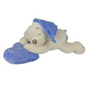 Urso De Pelúcia Dorminhoco Médio - Azul