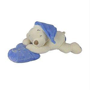 Urso De Pelúcia Dorminhoco Pequeno - Azul