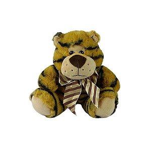 Tigre De Pelúcia Sentado 23cm