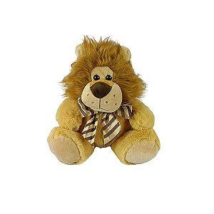 Leão De Pelúcia Sentado 23cm