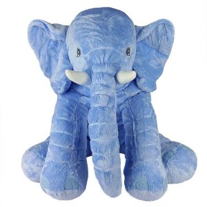 Elefante de Pelúcia Almofada Baby Azul