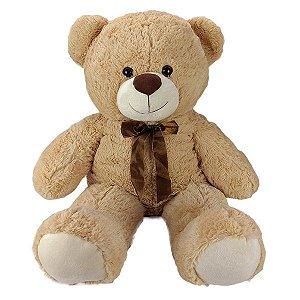 Urso De Pelúcia 85cm Bege - Grande