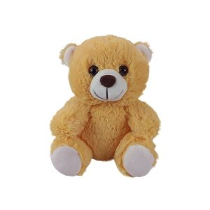 Urso De Pelúcia 18cm Sentado Caramelo