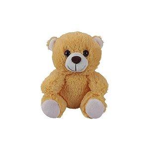 Urso De Pelúcia 15cm Sentado Caramelo