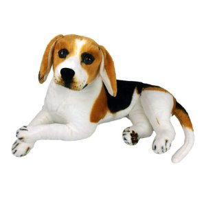 Cachorro de Pelúcia Beagle Deitado Grande