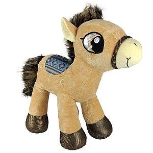 Cavalo de Pelúcia Sela Bege Grande