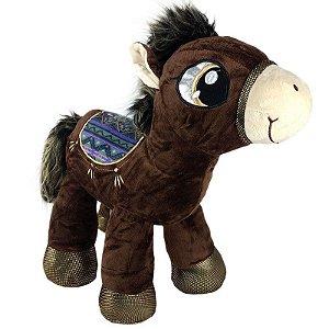Cavalo de Pelúcia Sela Marrom Grande