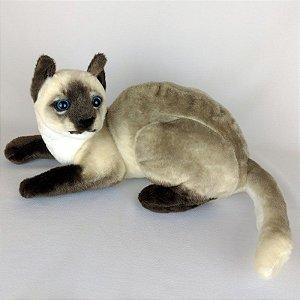 Gato de Pelúcia Realista Siamês