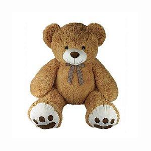 Urso De Pelúcia Grande 70cm Bege Escuro