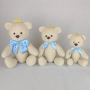 Trio Ursos de Pelúcia Príncipe