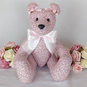 Ursa de Tecido Rosa