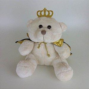 Urso De Pelúcia Principe Bege Claro P Marinho