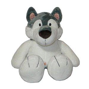 Cachorro de pelúcia Husky Siberiano 80cm