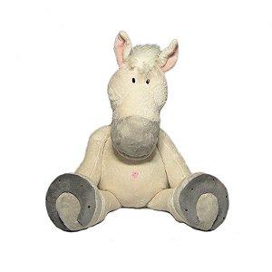 Cavalo De Pelúcia Branco - 60cm