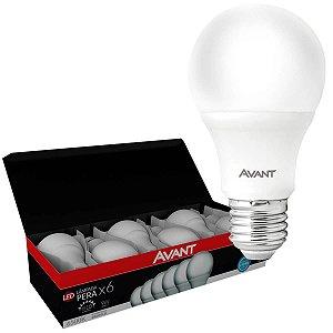 Lâmpada Led Bulbo 9W Avant Luz Branca 6500K Bivolt (Pack c/ 6un.)