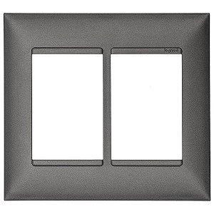 Placa 4x4 3+3 Postos Pial Plus+ Legrand Alumínio 618516AL