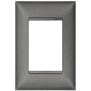 Espelho Pial Plus+ Placa 3 Postos 4x2 Legrand Alumínio 618503AL