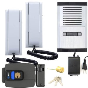 Interfone 2 Pontos HDL Com Fechadura Abertura p/ Dentro Com Botão