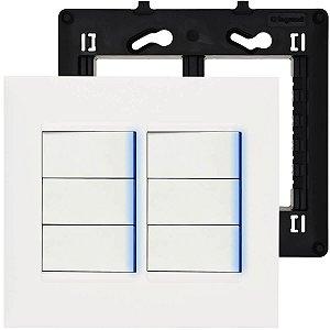 Interruptor 4x4 6 teclas (2 paralelos + 4 simples) Pial Plus+ Legrand