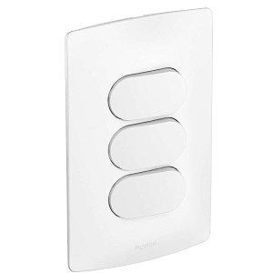 Interruptor Nereya Triplo 3 Teclas Branco Fosco 4x2 Pial Legrand