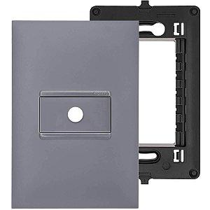 Placa Com Furo 4x2 Cinza Saída de Fio Pial Plus+ Legrand